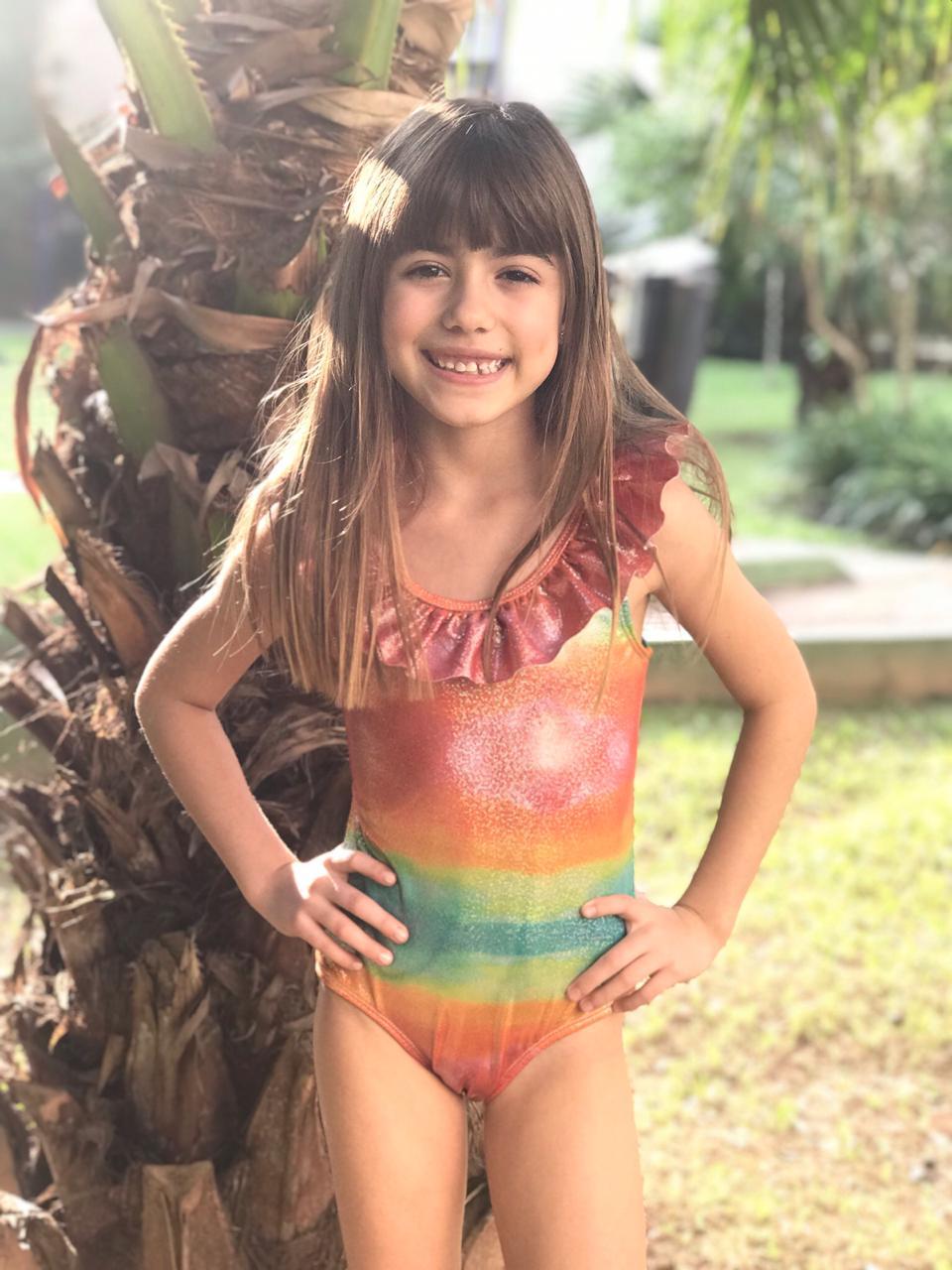 Maiô Lycra Proteção UPF50+ Natação Rainbow - Verão 2020