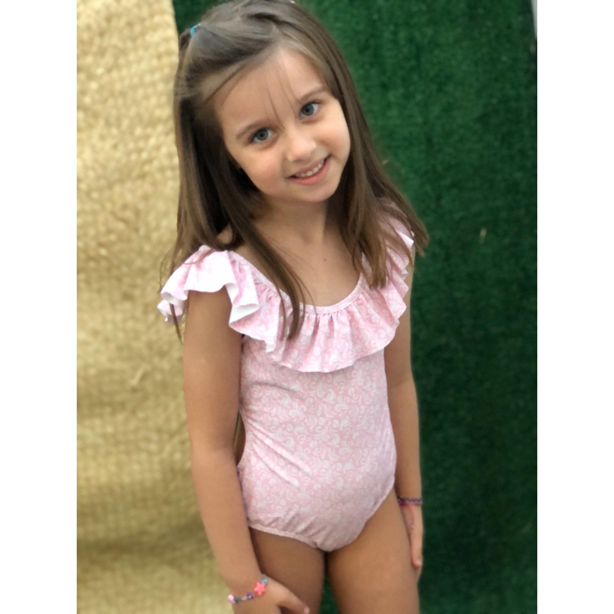 Maiô  Lycra Proteção UPF50+ Natação Sweet Pink