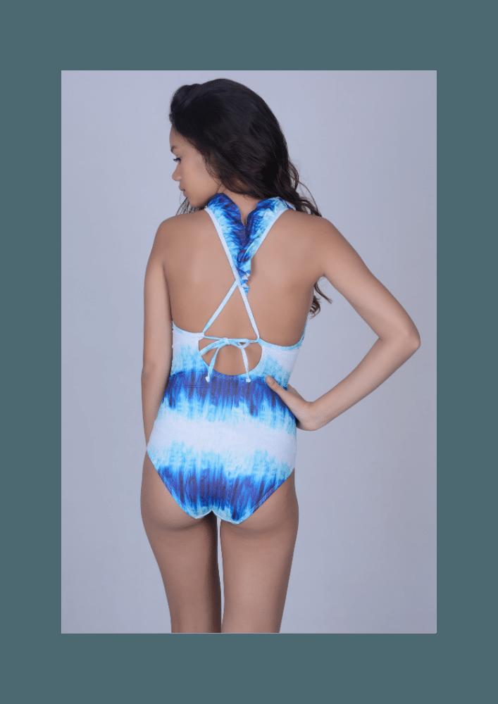 Maiô Lycra Proteção UPF50+ Queen Ocean Blue