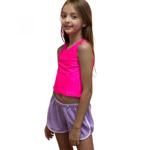 Shorts  Atoalhado Lilás