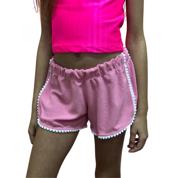 Shorts  Atoalhado Rosa