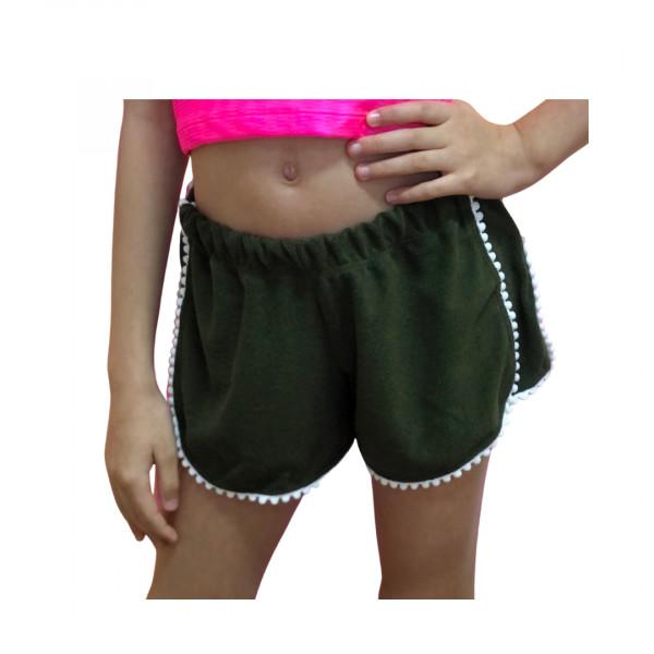 Shorts  Atoalhado Verde Militar