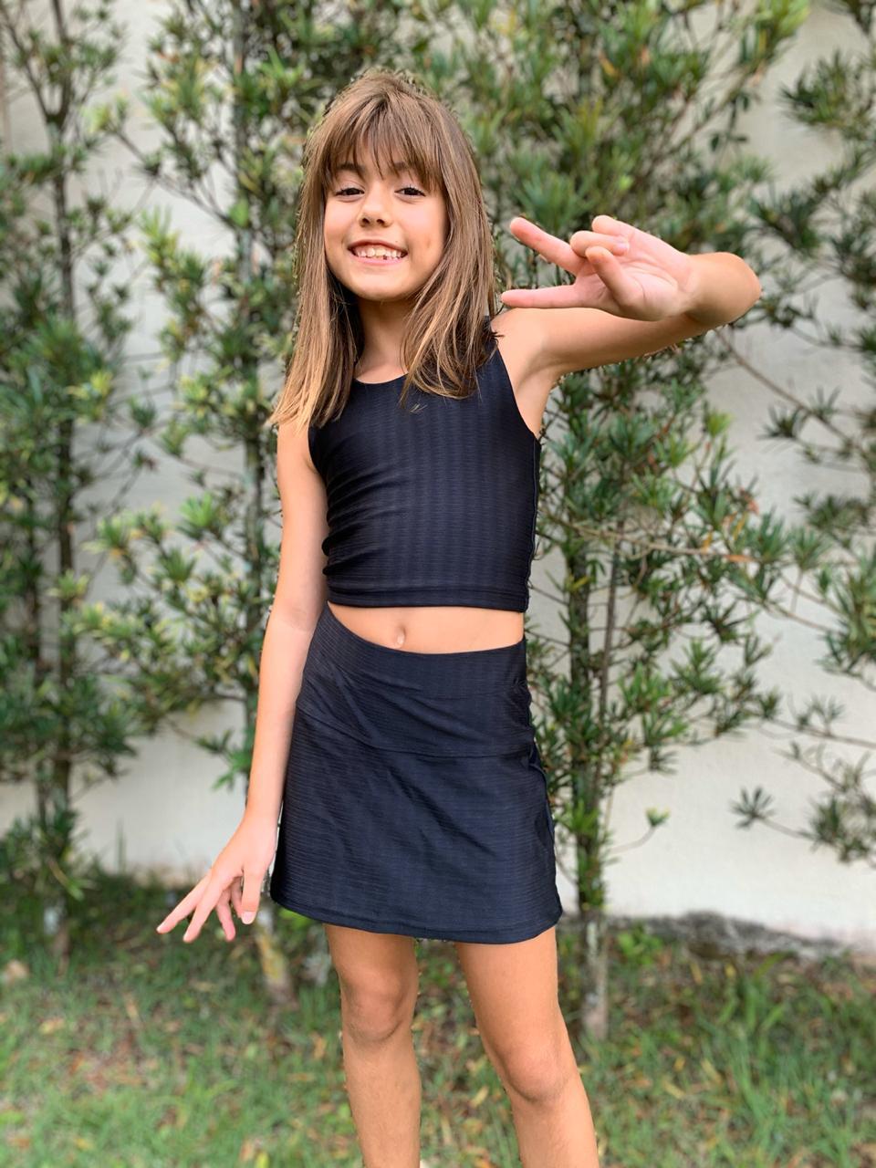 Shorts Saia Infantil Preto