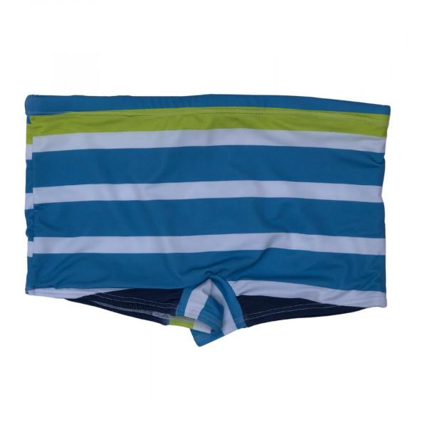 Sunga Boxer  Listras azul, verde e branco