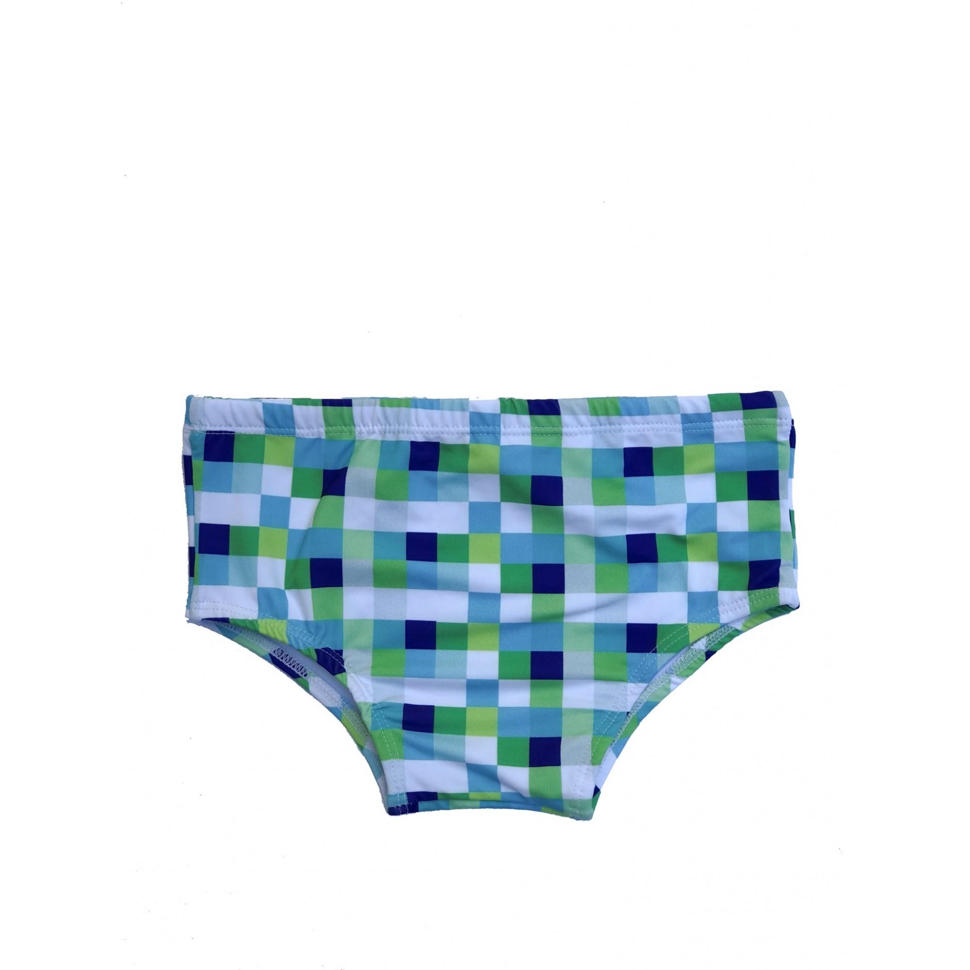 Sunga Larga Pixel Verde
