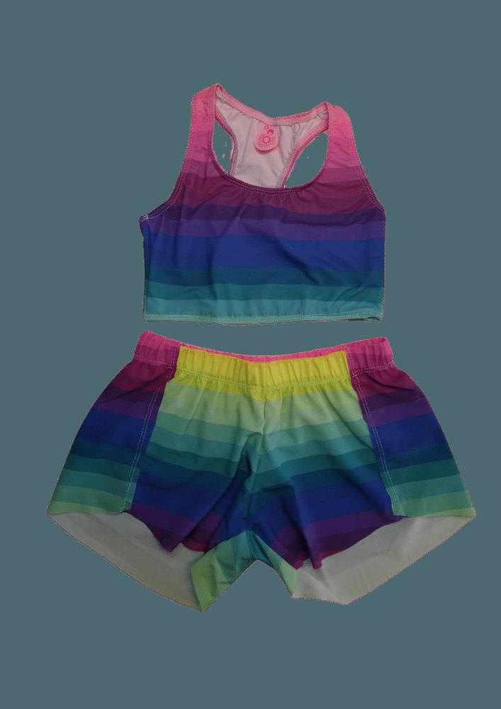 Top Lycra + Shorts Tactel Venice Rainbow