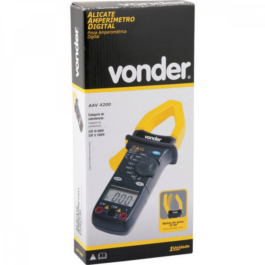 Alicate Amperimetro Digital Aav4200 Vonder