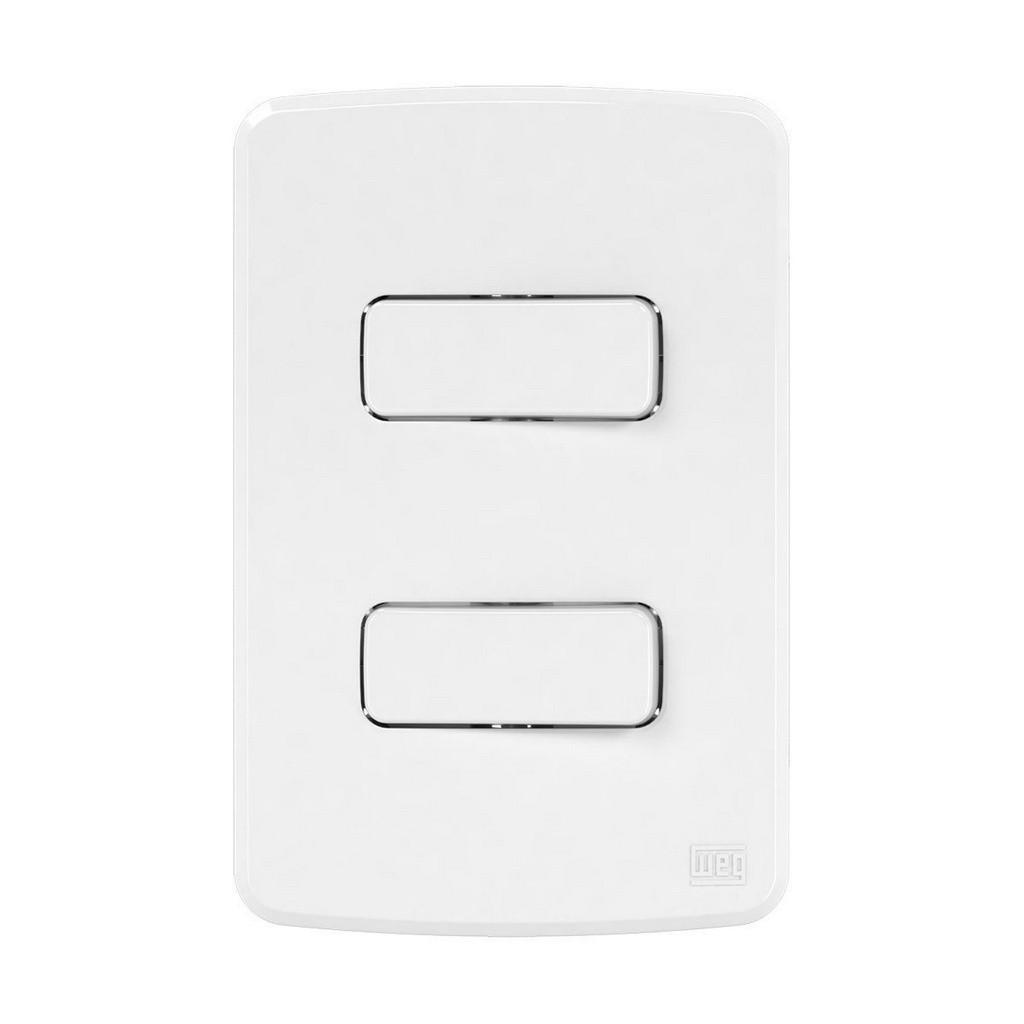 Conjunto 2 Interruptores Simples C/Pl 4X2 (Composé)   Weg
