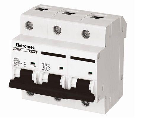 DISJUNTOR DIN 3X80A 6KA | ELETROMEC