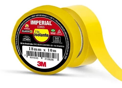 Fita Isolante 20Mt Imperial Amarelo 3M