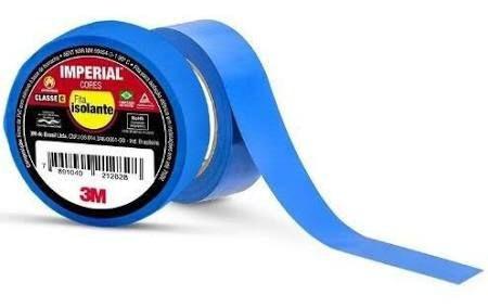 Fita Isolante 20Mt Imperial Azul 3M
