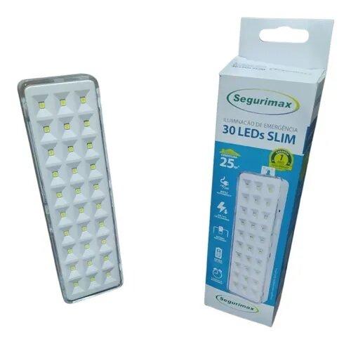 Iluminacao de emergencia autonoma 30 leds - Litio Slim 40/2600P SEGURIMAX
