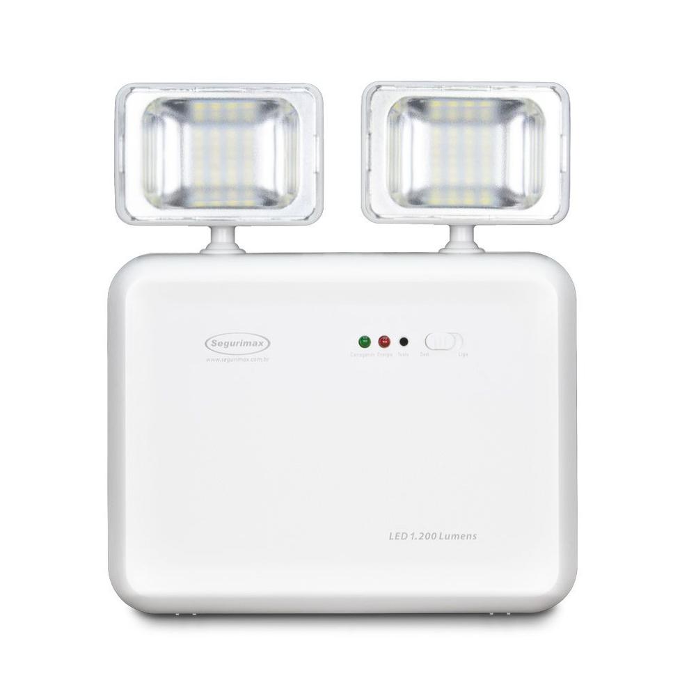 Iluminacao emergencia LED 1.200 lumens 2 farois - predial 10/280P SEGURIMAX