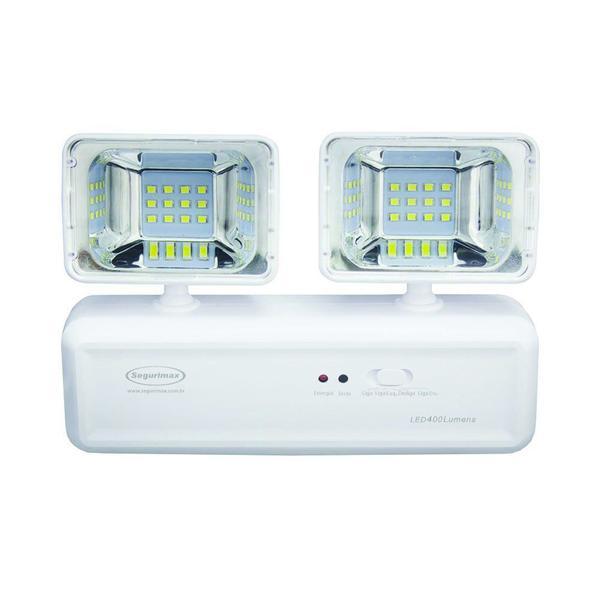 Iluminação emergencia LED 400 lumens 2 farois 20/560P SEGURIMAX
