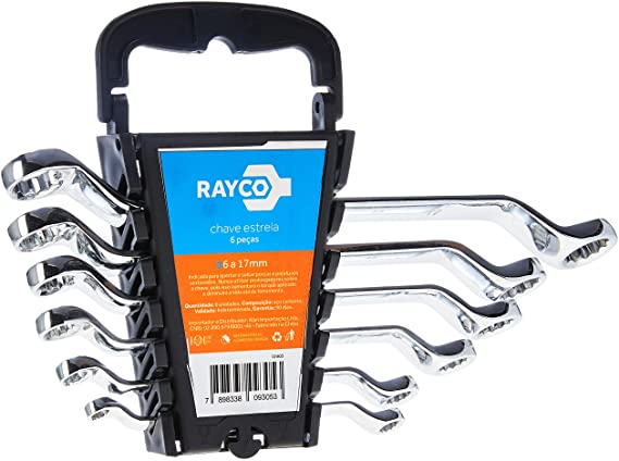 Kit Chave Estrela  6 Peças 6 A17mm  RAYCO