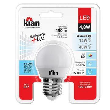 LAMP LED BOLINHA 4,8W 6500K BIV KIAN