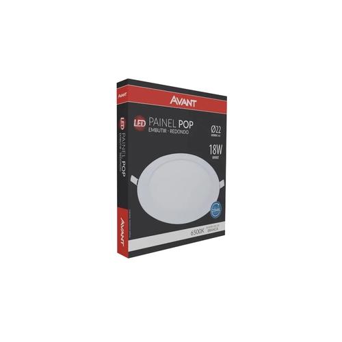 Lâmpada Led Painel Pop. EMB Red 22 BR6500v 18w Biv.
