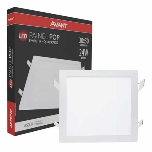 Led Painel Pop EMB Qua 30 Br 6500k 24W 30x30 Biv Avant