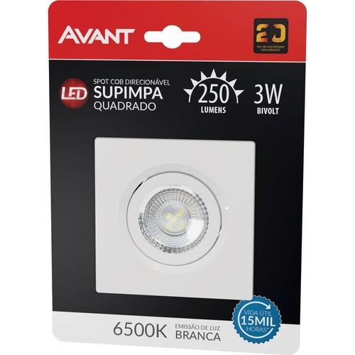 Led Spot Supimpa Qua 3W Biv NH250 6500K