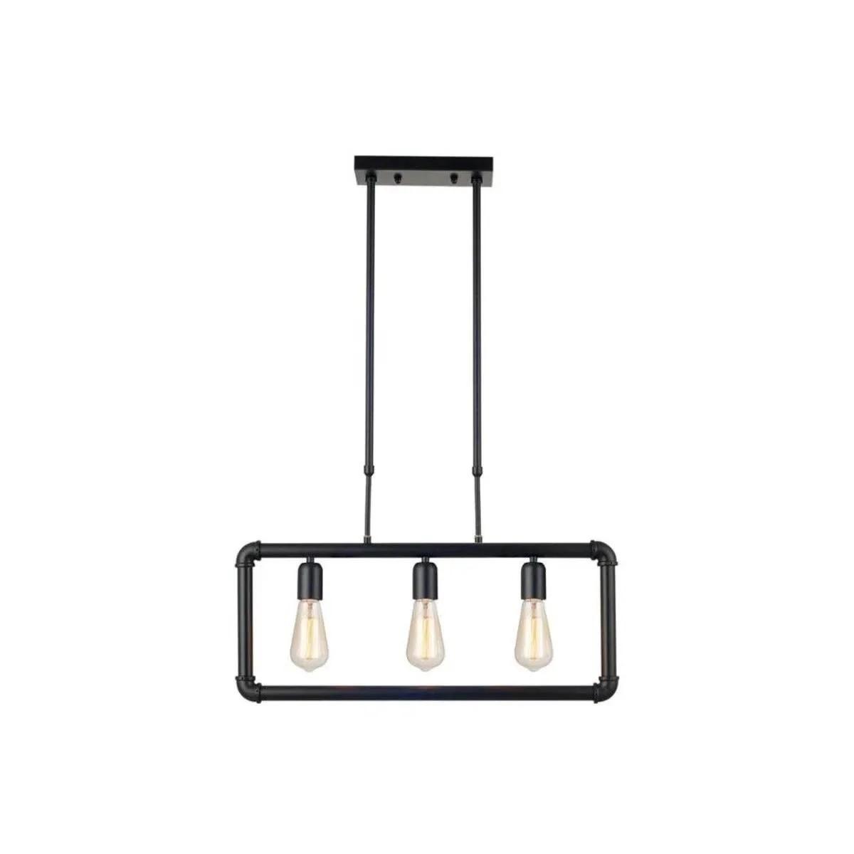 Pendente Hash para 3 lâmpadas