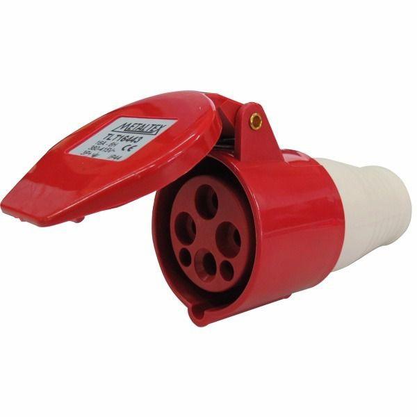 Plug Femea 16A 3P+E -9H Metaltex