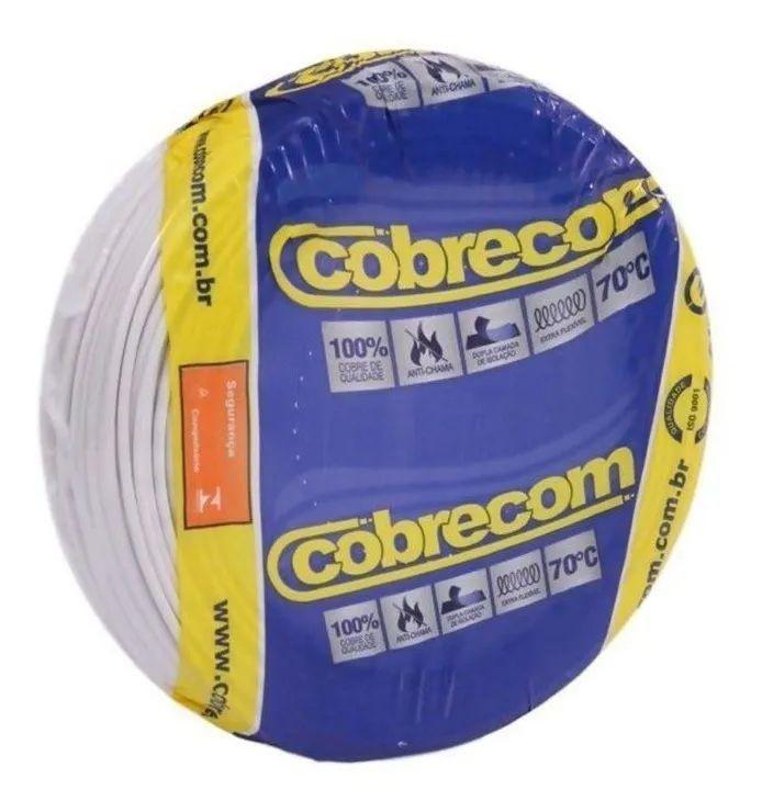 ROLO CABO FLEX 10,0MM BRANCO COBRECOM