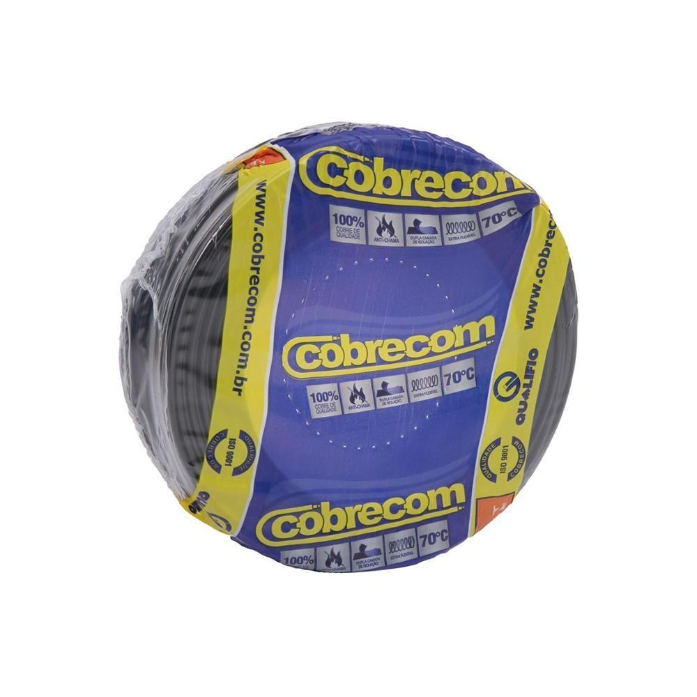 ROLO CABO FLEX 10,0MM PRETO COBRECOM