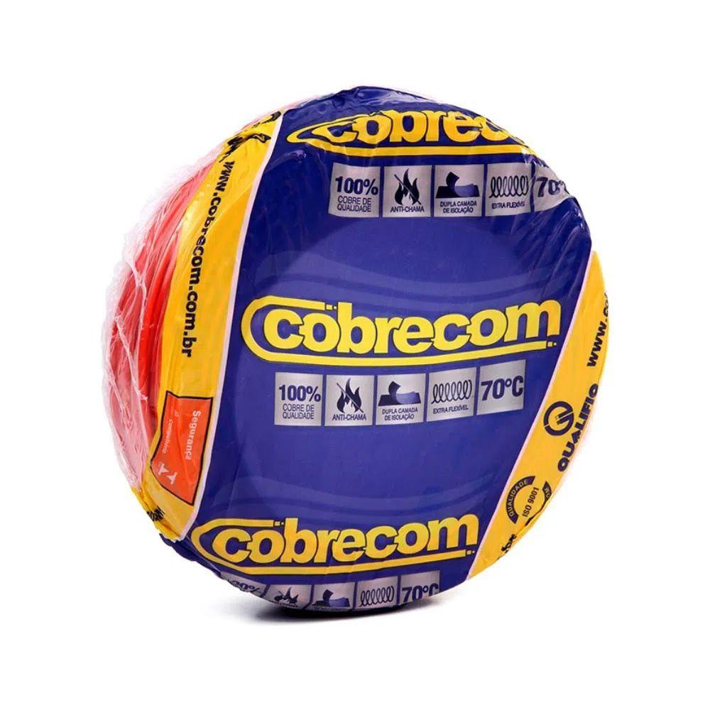 ROLO CABO FLEX 10,0MM VERMELHO COBRECOM