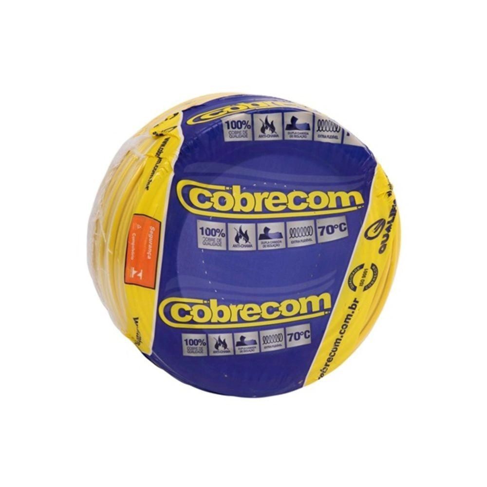ROLO CABO FLEX 1,5MM AMARELO COBRECOM