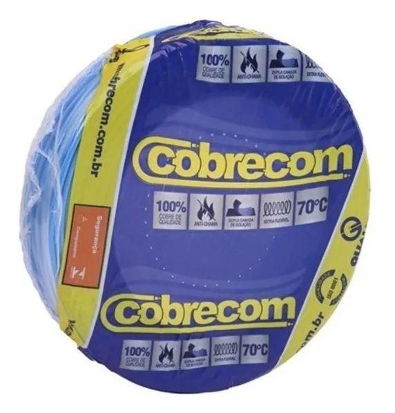 ROLO CABO FLEX 1,5MM AZUL COBRECOM