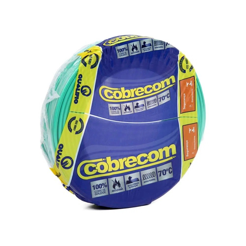 ROLO CABO FLEX 1,5MM VERDE COBRECOM