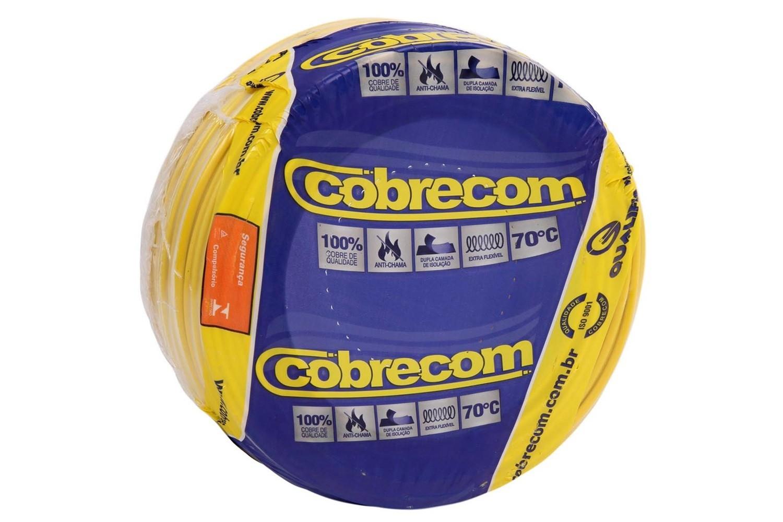ROLO CABO FLEX 4,0MM AMARELO COBRECOM