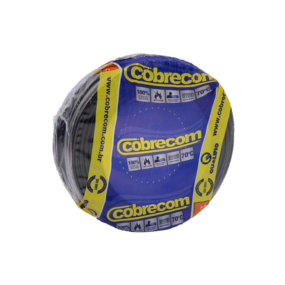 ROLO CABO FLEX 4,0MM PRETO COBRECOM