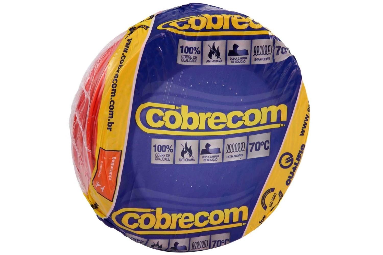 ROLO CABO FLEX 4,0MM VERMELHO COBRECOM