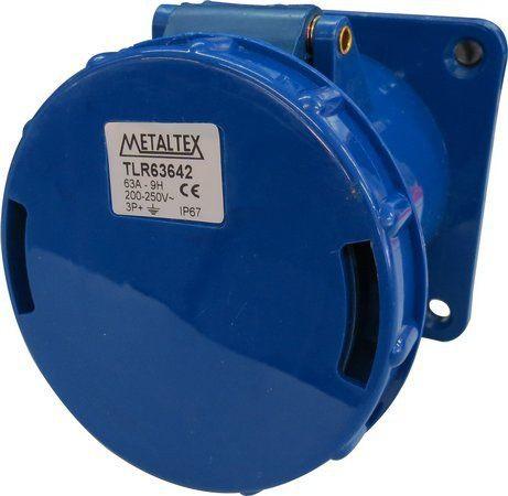 Tomada Painel 63A 3P+E 9H Azul Metaltex