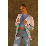CARDIGAN TRICOT SWEET COLORS