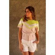 CONJUNTO LINHO SHORT COLOR
