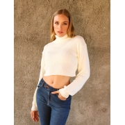 CROPPED TRICOT GOLA ALTA COLORS