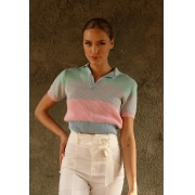 CROPPED TRICOT POLO COLORS