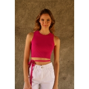 CROPPED TRICOT TIRAS