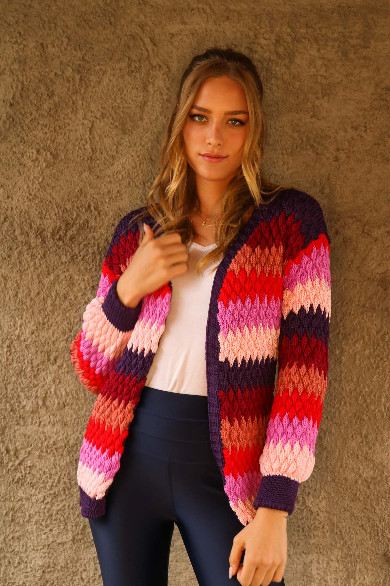 CARDIGAN TRICOT CHERRY COLORS