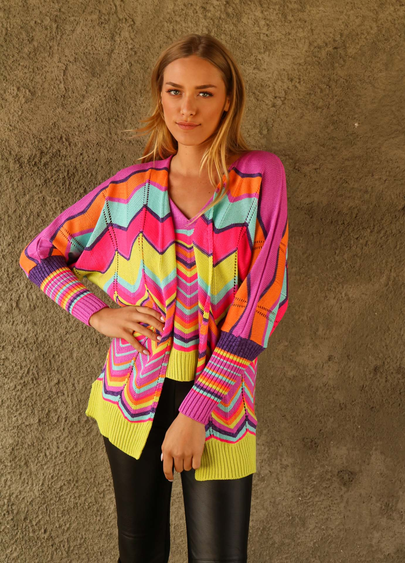 TWIN SET TRICOT NEON COLORS