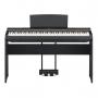 Piano Digital Yamaha P125 Preto + Pedal Sustain LP-1 + Estante L-125