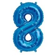 BALAO CAKE TOPPER 5P AZUL Nº8