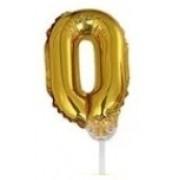 BALAO CAKE TOPPER 5P OURO Nº0