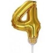 BALAO CAKE TOPPER 5P OURO Nº4