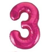 BALAO CAKE TOPPER 5P PINK Nº3
