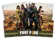 FESTCOLOR - FREE FIRE PAINEL 4 LAMINAS 1UN