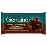 GENUINE - COBERTURA 2,1KG MEIO AMARGO