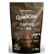 QUALICOCO - CHOCOLATE EM PÓ 100% CACAU 200G